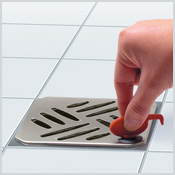 Design grate made of stainless steel