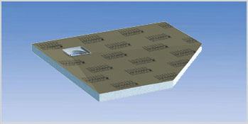 Lux elements tub variantes de design et les mesures - Receveur douche pentagonal ...