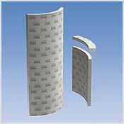 2 hard foam shower partition wall elements